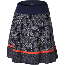 Royal Robbins Cool Mesh Eco Skirt Women Deep Blue Flower/Dot Border